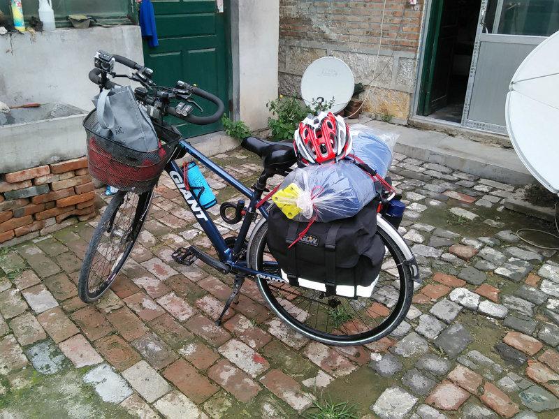 刚出发时的自行车