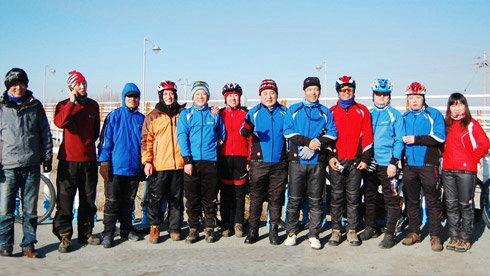 包头2011圣诞节黄河景观大道骑行