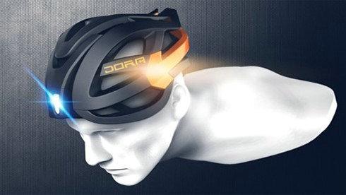 新型概念头盔DORA 借助蓝牙装置来控制灯变化