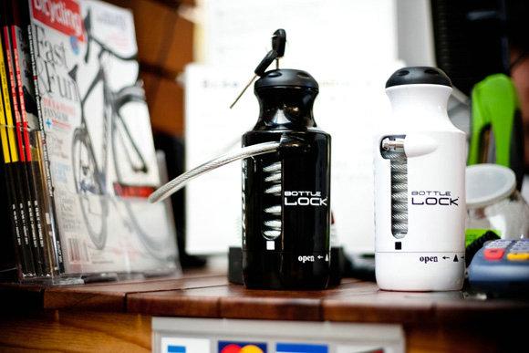 设计成运动水瓶形状的创意自行车锁