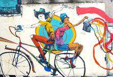 阿根廷艺术家Mart与他的单车涂鸦
