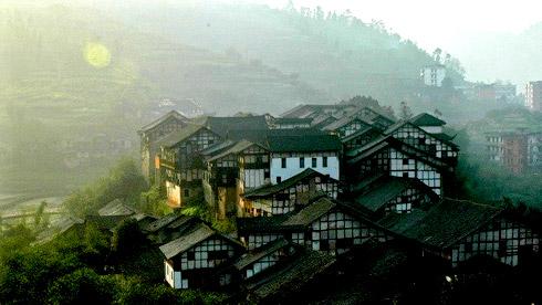 骑车游古镇-四川-骑行福宝古镇攻略路线地图 福宝古镇旅游攻略