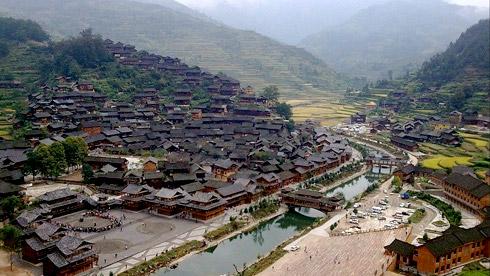 骑车游古镇-贵州-西江苗寨攻略路线地图 西江苗寨旅游攻略