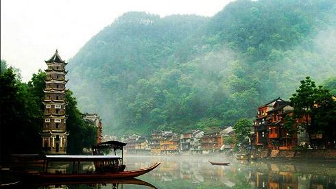 骑车游古镇-湖南-凤凰古镇路线攻略地图