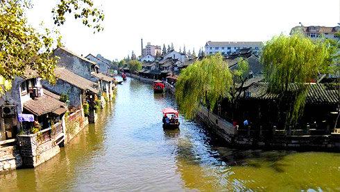 骑行上海枫泾古镇