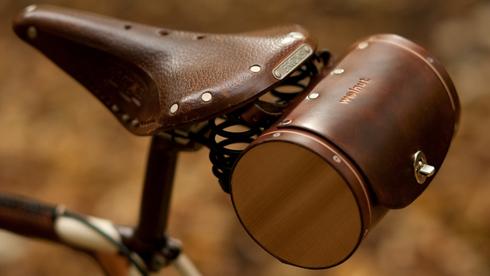 WalnutStudiolo自行车复古皮革坐垫包