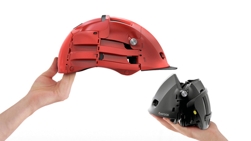 Overade折叠式自行车头盔