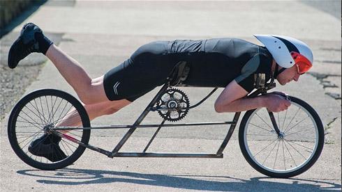 自行车达人DIY时速可达100英里的自行车