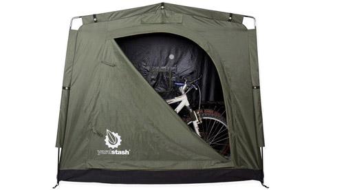 野外长途骑行 自行车安全存放装置
