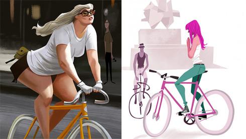 Thorsten Hasenkamm:死飞自行车运动插画设计