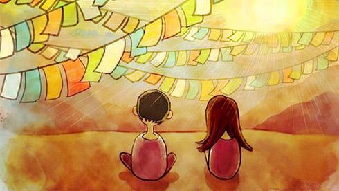 美女插画师手绘萌版西藏,满满的都是回忆!