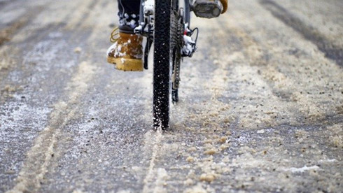 冬天冰面和恶劣天气的自行车重庆时时彩开奖结果技巧