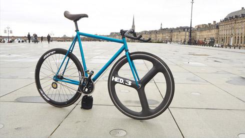 沁然蓝色之华,Neysha Affinity Lopro 版死飞自行车欣赏