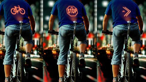 个性十足 CYCLEE概念智能投影单车尾灯