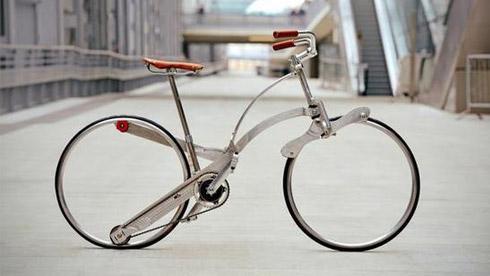 Sada无辐条可折叠自行车 折叠后只有雨伞大小