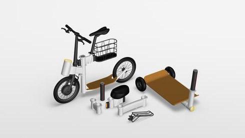 折叠自行车OUT了 来看看最酷的模块化自行车
