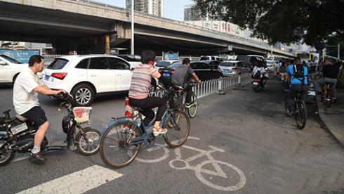 北京三环全线自行车道将在2016年年内疏通