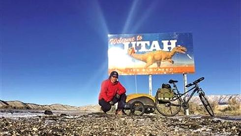 两个月7000多公里 莆田学院潘建辉独自骑行横穿美国