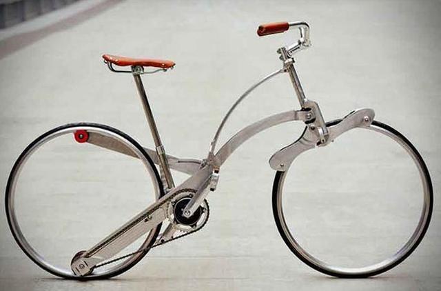 折叠之后和雨伞差不多,超便携自行车你想要吗?