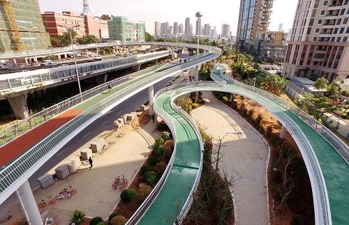 英媒:中国各地现自行车高速路 探索再次拥抱自行车